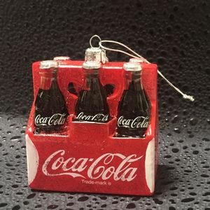 Coca Cola Bottle Case Ornament by Kurt Adler NIB